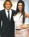 Diego Forlan and his girlfriend Zaira Nara