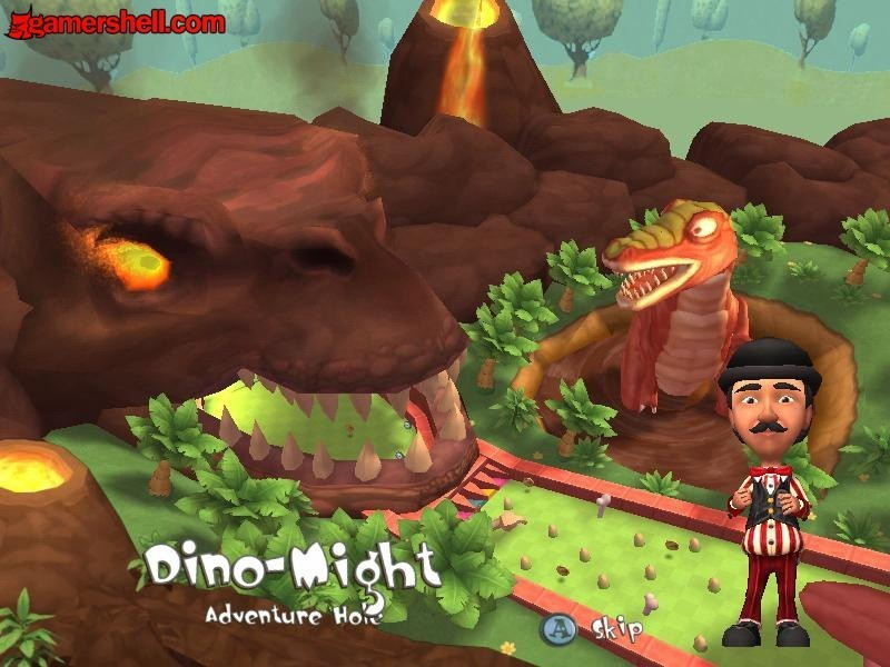 Carnival Games Mini Golf Images Dino Might Hole In Prehistoria Hd
