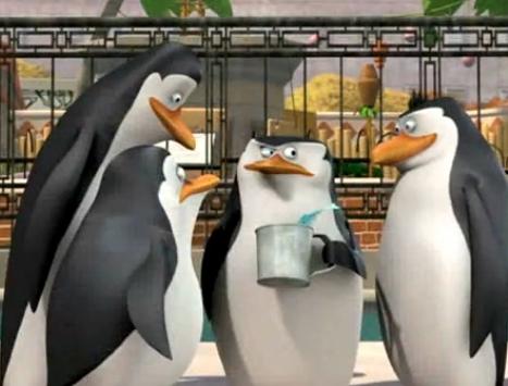 पेंग्विन्स ऑफ मॅडगास्कर वॉलपेपर titled Er.... Hi there..