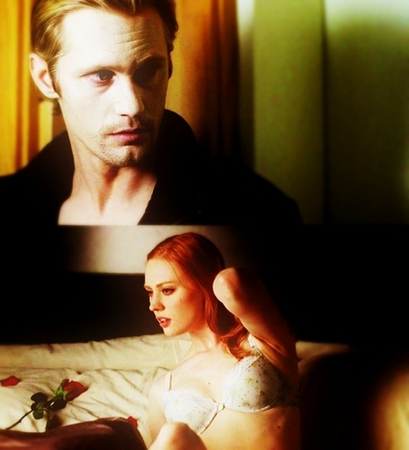 True Blood fond d'écran possibly with a neonate, a bedroom, and a living room called Eric & Jessica