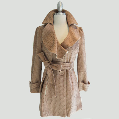 Topshop wallpaper titled Feminine Pikish Brown Coat