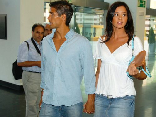 Fernando Verdasco and his girlfriend
