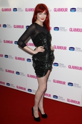 Florence Welch At The 2010 Glamour Awards (06/08/10)
