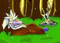 Galahad and Percival, Resting in the woods - silvaze photo
