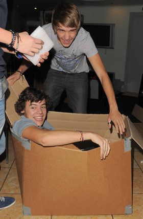 Harry in a box!!! lol