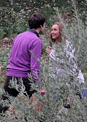 Hayden on set The Amanda Knox Story