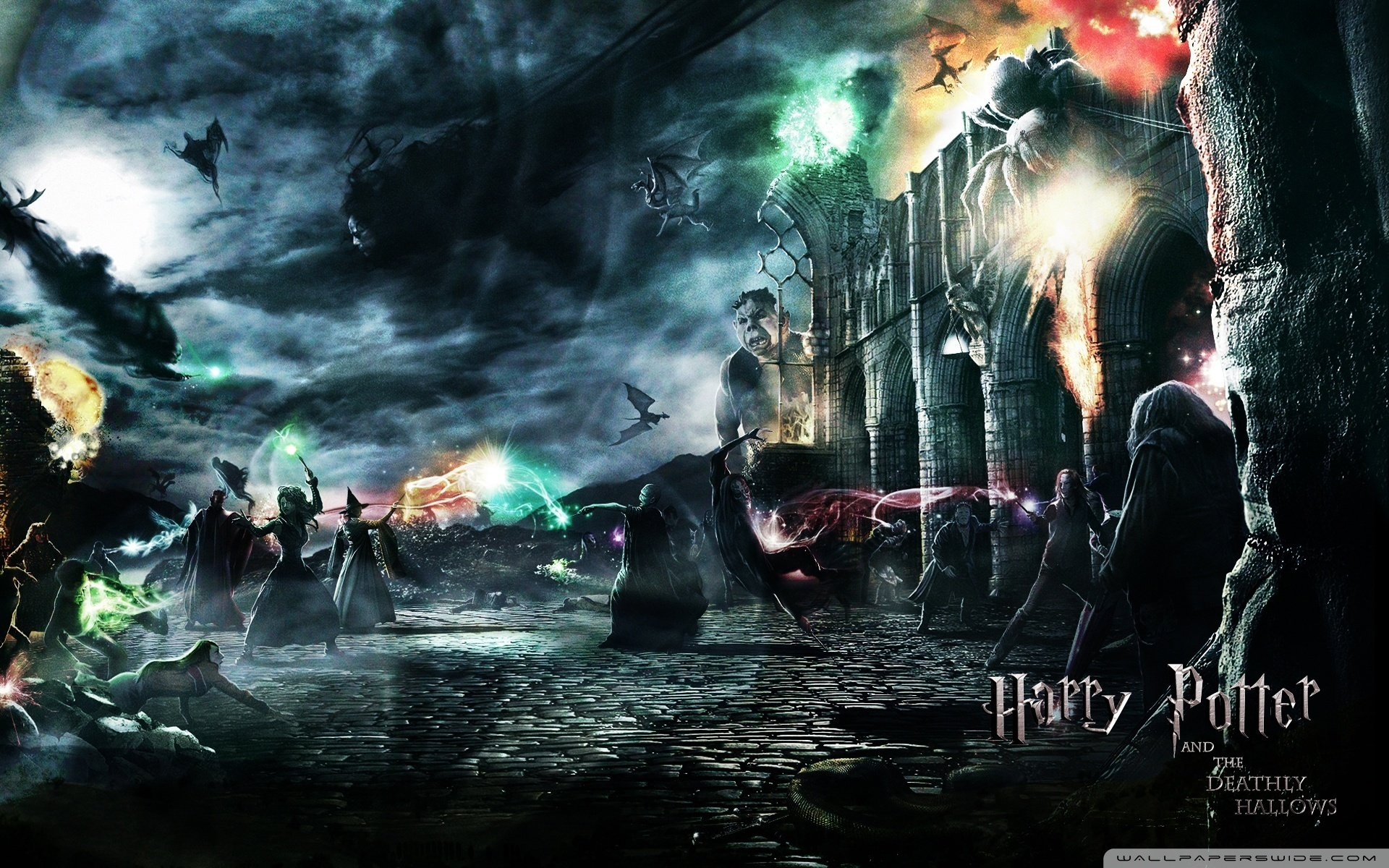 Wonderful Wallpaper Harry Potter Deathly Hallows - Hogwart-s-Battle-the-deathly-hallows-16562188-1920-1200  HD_295434.jpg