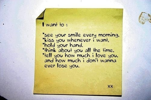 I want to see you...