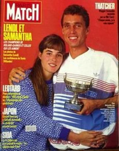 Tennis wallpaper containing anime entitled Ivan Lendl and his wife