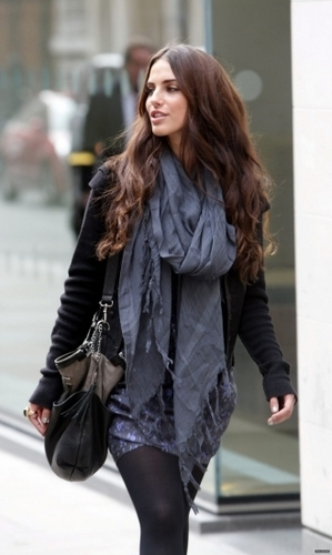 Jessica Lowndes wallpaper probably with an outerwear, an overgarment, and a hip boot called Jessica Lowndes