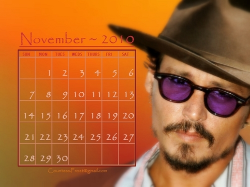 Johnny - November 2010 (calendar)