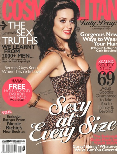 Katy Perry on the Cover of the November 2010 Issue of Cosmopolitan Magazine