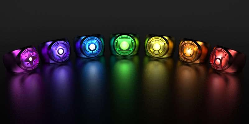 DC Comics Lantern Corps Rings