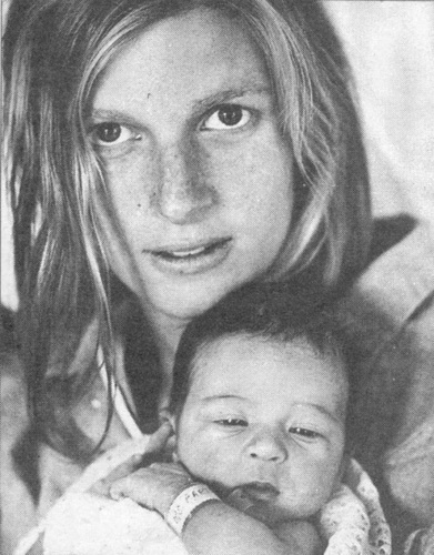 Linda and newborn Mary