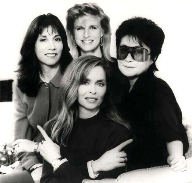 Linda with the other Beatle women