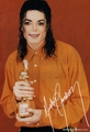 MJ in orange - michael-jackson photo