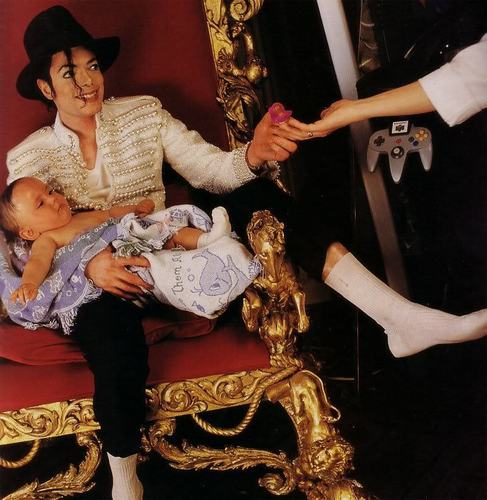 MJ with children
