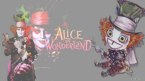 Alice in Wonderland (2010) wallpaper possibly containing anime entitled Mad Hatter
