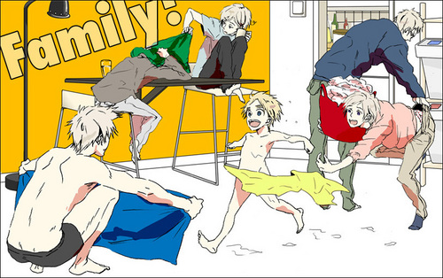 Hetalia wallpaper probably containing anime titled Nordic family chaos!