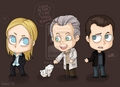 Olivia, Peter and Walter - fringe fan art