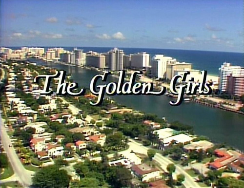 Fred&Hermie wallpaper containing a business district, a resort, and a skyscraper called Opening Logo of The Golden Girls