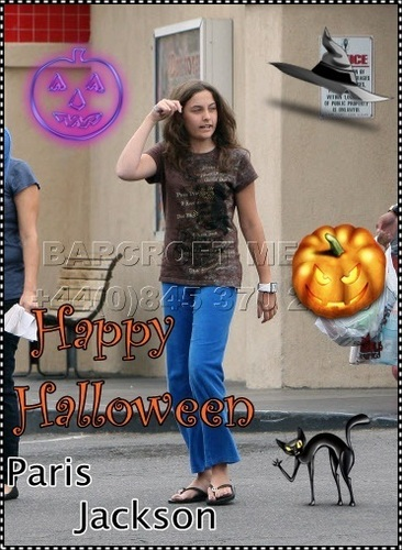 Paris jackson's dag 31 is Happy Halloween