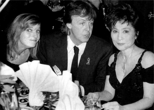Paul, Linda and Yoko