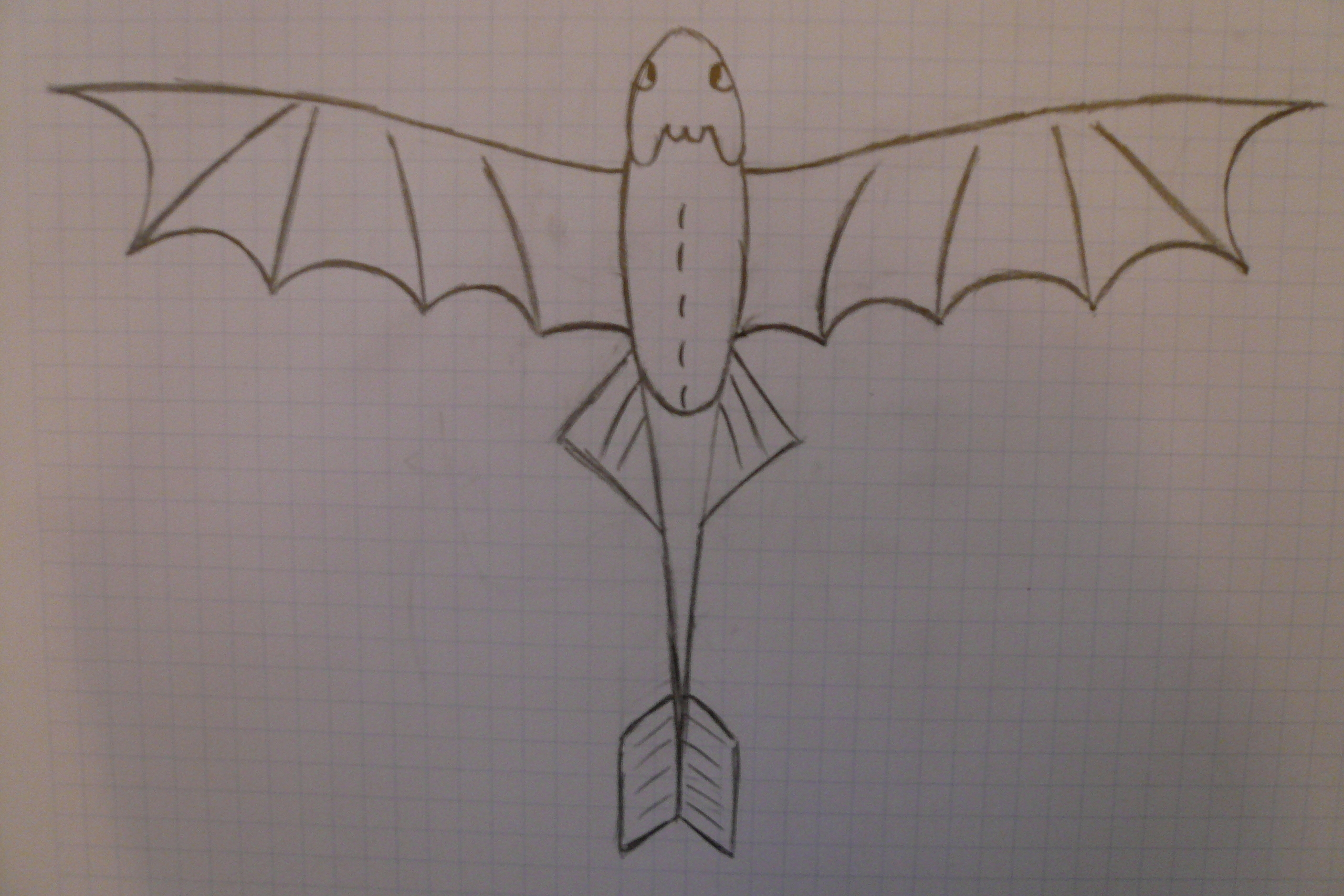 How to Train Your Dragon Picture of night fury that Hiccup drew