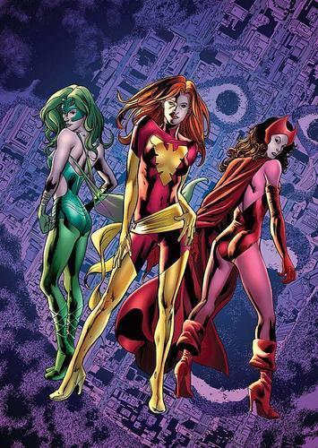 Polaris, Dark Pheonix, & Scarlet Witch