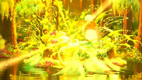 Disney Magical Moments wallpaper possibly with a bouquet and a fountain entitled Princess and the frog