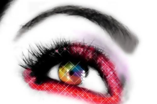 pelangi, rainbow Eye