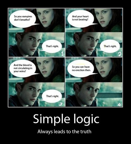 Critical Analysis of Twilight wallpaper entitled Simple Logic...