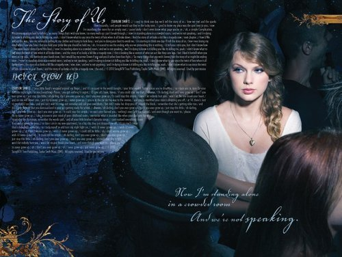 Taylor Swift's Speak Now digital booklet :)