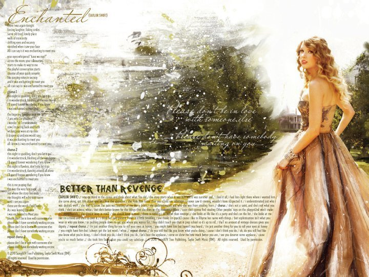 Taylor Swift's Speak Now digital booklet :) - Taylor Swift ...