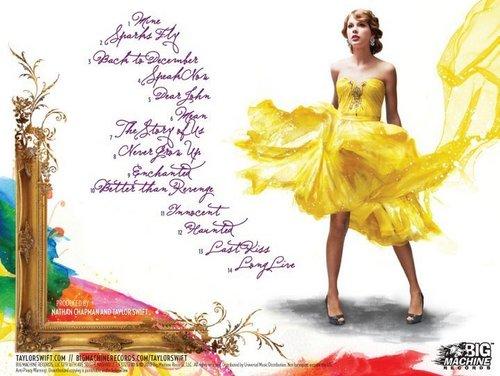 Taylor Swift's Speak Now digital booklet :)