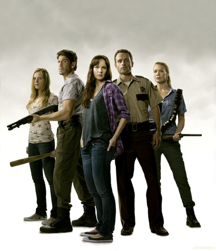 The Walking Dead wallpaper with a green beret, a rifleman, and fatigues called The Walking Dead Cast