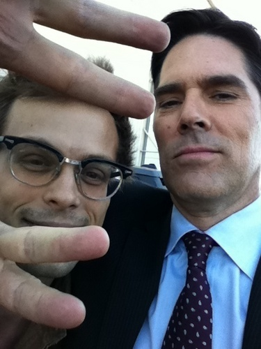 Thomas Gibson wallpaper with a business suit entitled Thomas and Matthew