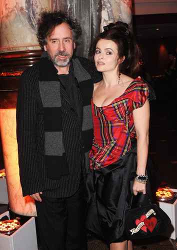 Tim برٹن & Helena Bonham Carter @ the BFI London Film Festival