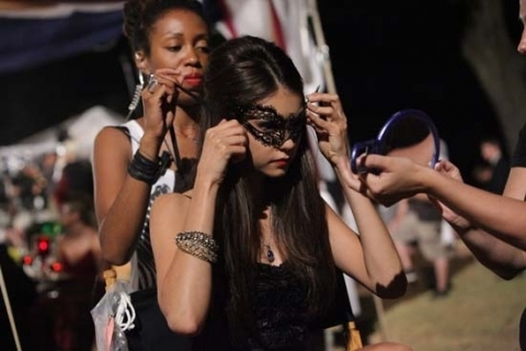 Vampire Diaries; Masquerade Set Pictures. - katherine-pierce Photo