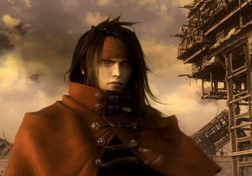 Vincent Valentine वॉलपेपर possibly containing an outerwear, an overgarment, and a हुड, डाकू titled Vincent Valentine