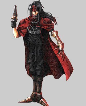 Vincent Valentine वॉलपेपर probably with a surcoat, सुरकोट and a बरसती, लबादा entitled Vincent
