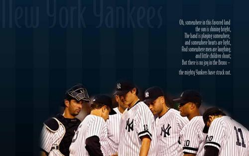 New York Yankees Обои containing a ballplayer, a right fielder, and an umpire titled