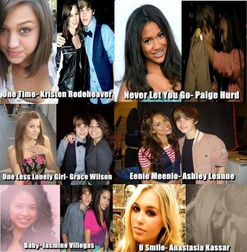 all the girls from justin 's musique vidéos