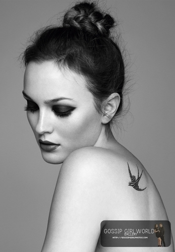 Leighton Meester wallpaper probably containing skin and a portrait called marie claire