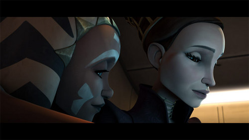 étoile, étoile, star Wars: Clone Wars fond d'écran entitled padme and ahsoka