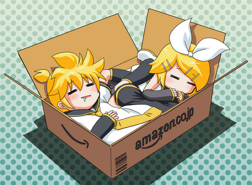ren and len in a amazon box