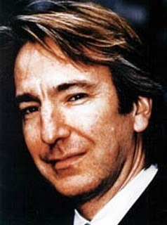 Alan Rickman wolpeyper with a business suit and a portrait called Alan Rickman