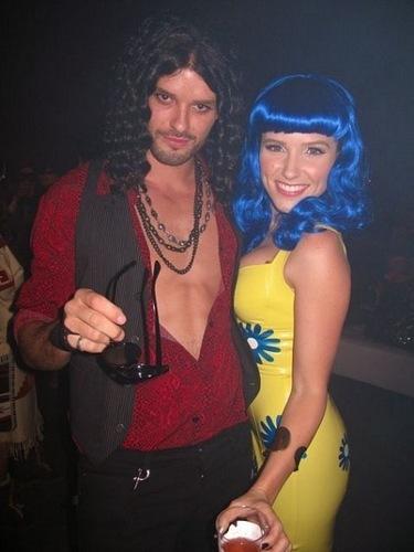 Austin Nichols & Sophia belukar, bush as Katy Perry & Russell Brand at Maroon 5 Halloween 2010 Bash.