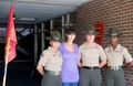 Catherine at Parris Island