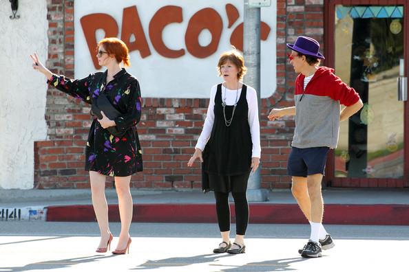 Christina Hendricks Leaving Paco's Mexican Restaurant